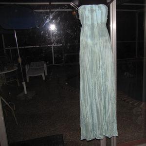 seafoam green tie dye smocked maxi dress sundress